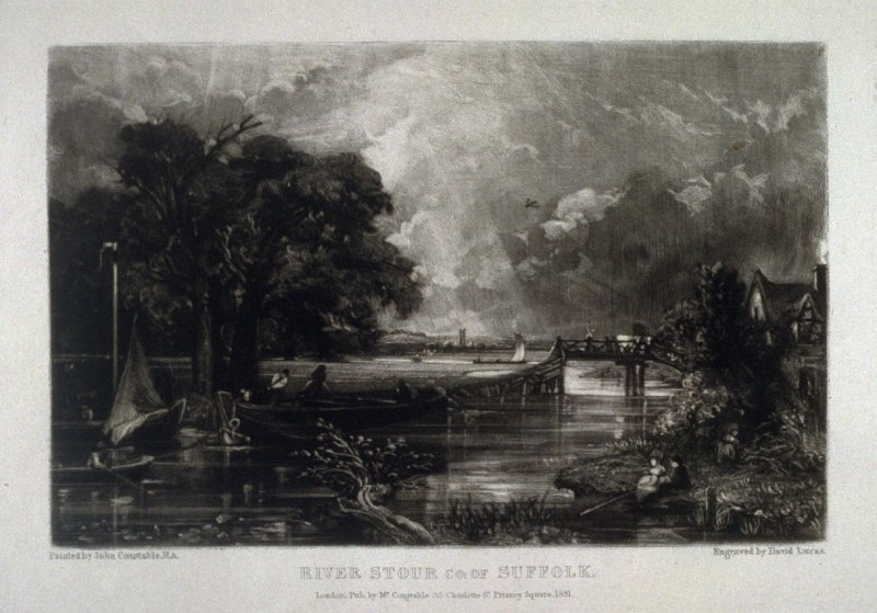 Plate 12: River Stour, County of Suffolk, from the album 'Various Subjects of Landscape, Characteristic of English Scenery' (London: John Constable, 1830-[1832])