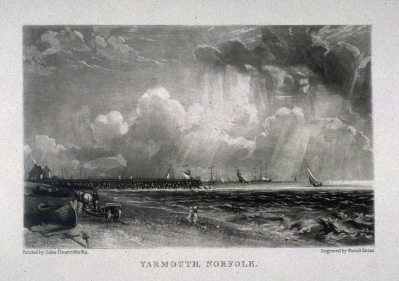 Plate 10: Yarmouth, Norfolk, from the album 'Various Subjects of Landscape, Characteristic of English Scenery' (London: John Constable, 1830-[1832])