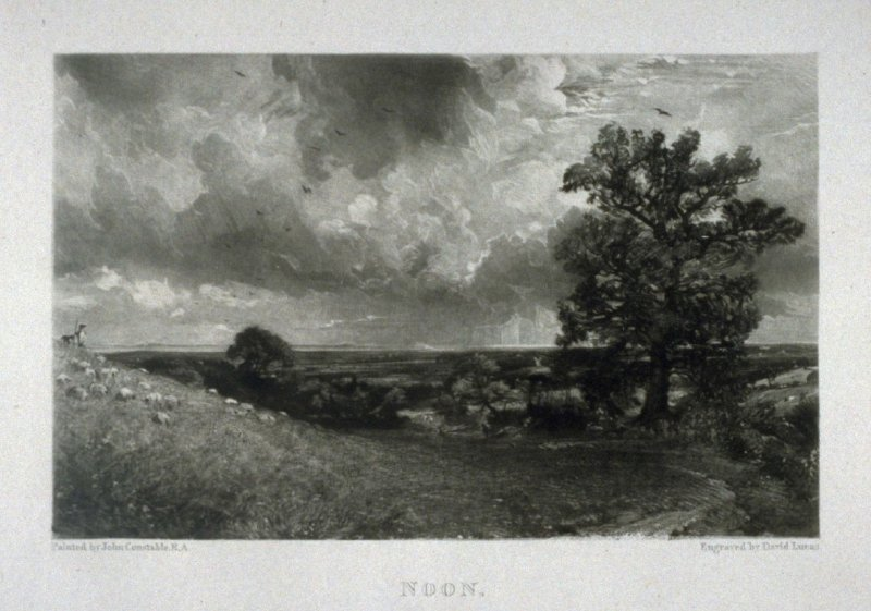 Plate 4: Noon, from the album 'Various Subjects of Landscape, Characteristic of English Scenery' (London: John Constable, 1830-[1832])