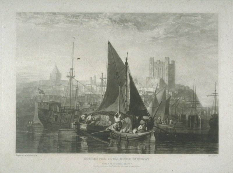 Plate 5: Rochester on the River Medway, from the series 'The Rivers of England'