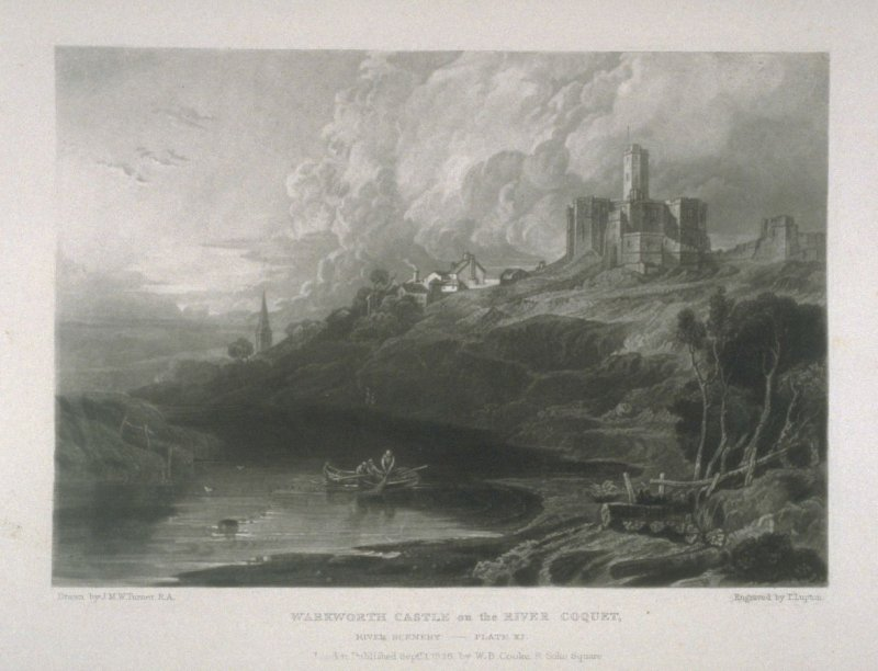 Plate 11: Warkworth Castle on the River Coquet, from the series 'The Rivers of England'