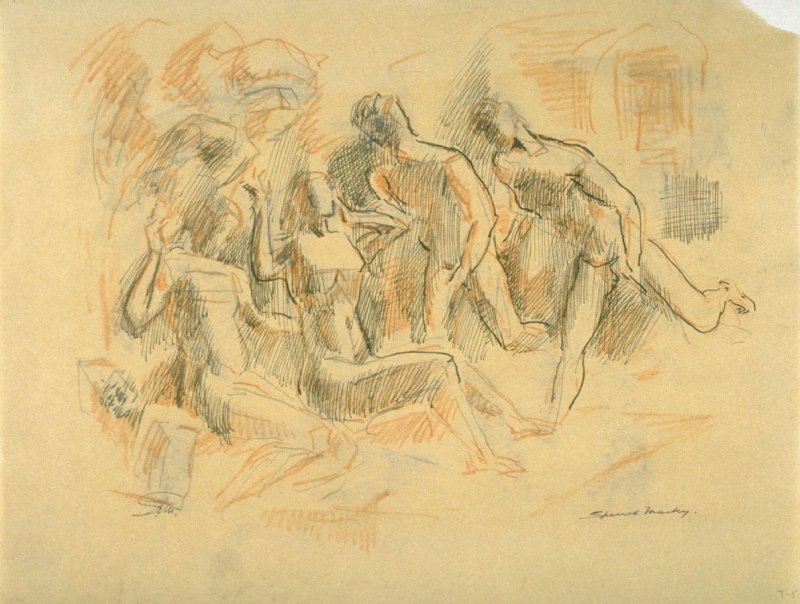 Study of nude males and females