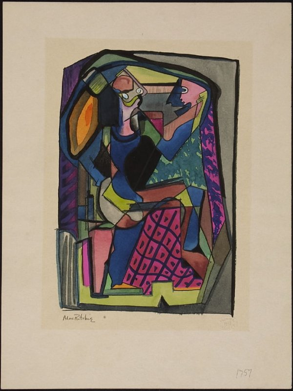 Untitled (Figure at a Mirror)