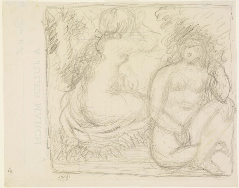 Study of Two Female Nudes