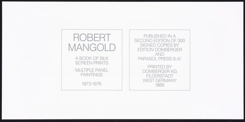 Multiple Panel Paintings: A Book of Silk Screen Prints, 1973-1976