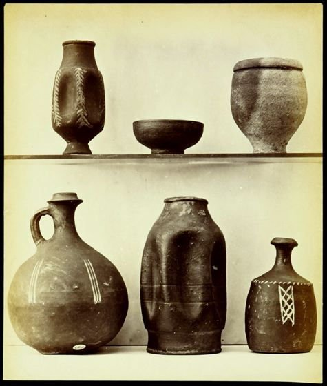 Object from the British Museum: various ceramic containers