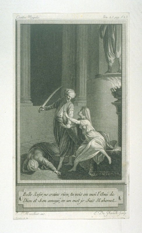 86 engravings from one set: Belle Asfer, ne crains rien...