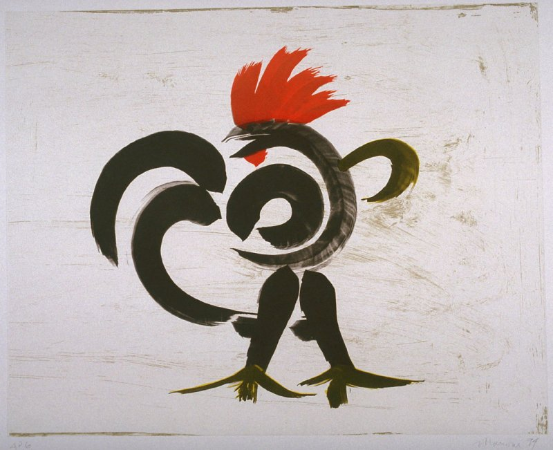 Windblown Rooster