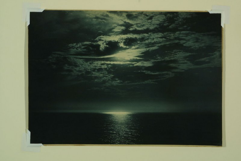 Untitled (Moon Reflecting Over Water)