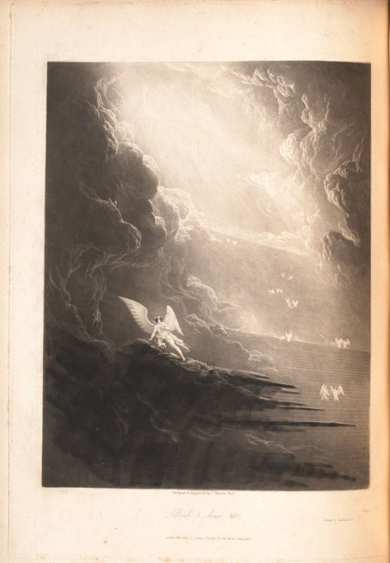 [Satan Viewing the Ascent to Heaven] Book 3. line 501., bound at p.83 in the book, The Paradise Lost of John Milton (London: Charles Whittingham, 1846)
