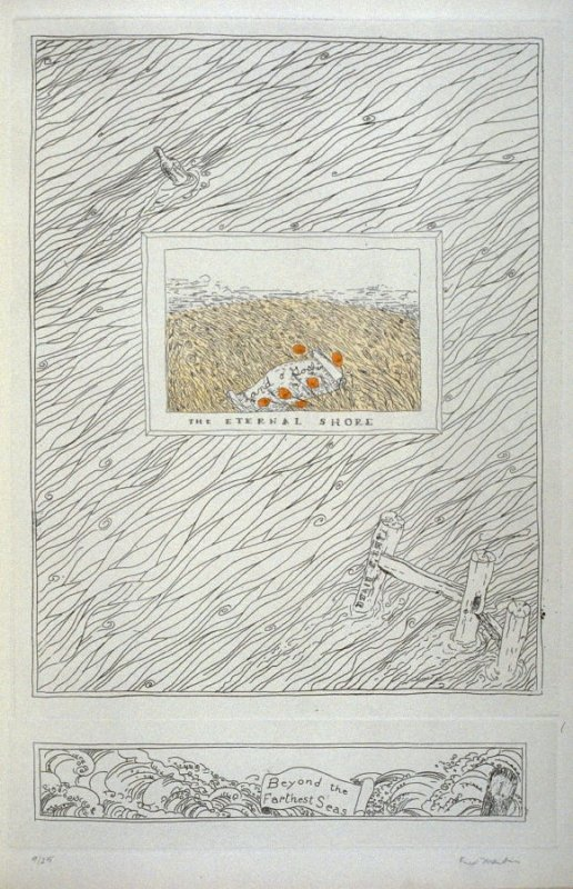 East of the Sun and West of the Moon, pl. 1 from Beulah Land: Fifteen Etchings by Fred Martin (Berkeley: Crown Point Press, 1966)