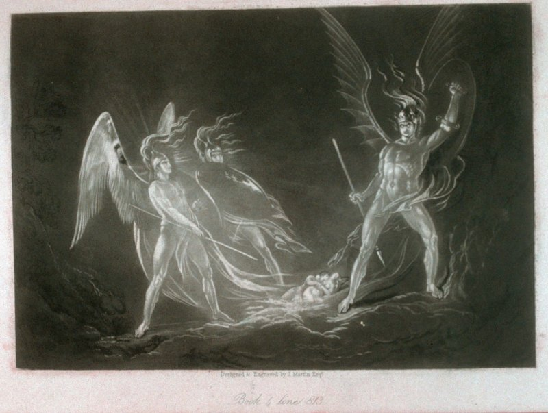 [Eve's Dream—Satan Aroused], Book 4 line 813, bound at p.121 in the book, The Paradise Lost of Milton (London: Charles Tilt, 1838)9