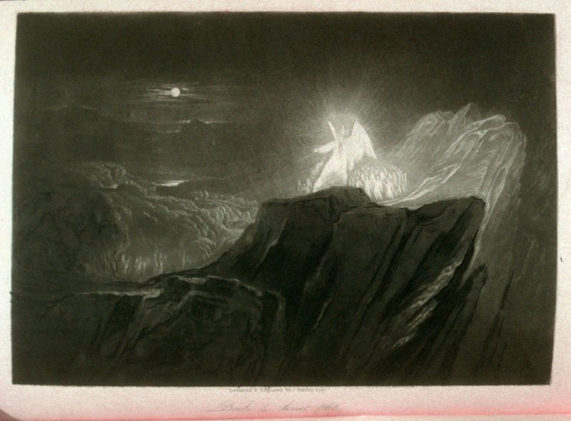[The Angels Guarding Paradise at Night], Book 4 line 866, bound at p.123 in the book, The Paradise Lost of Milton (London: Charles Tilt, 1838) 9
