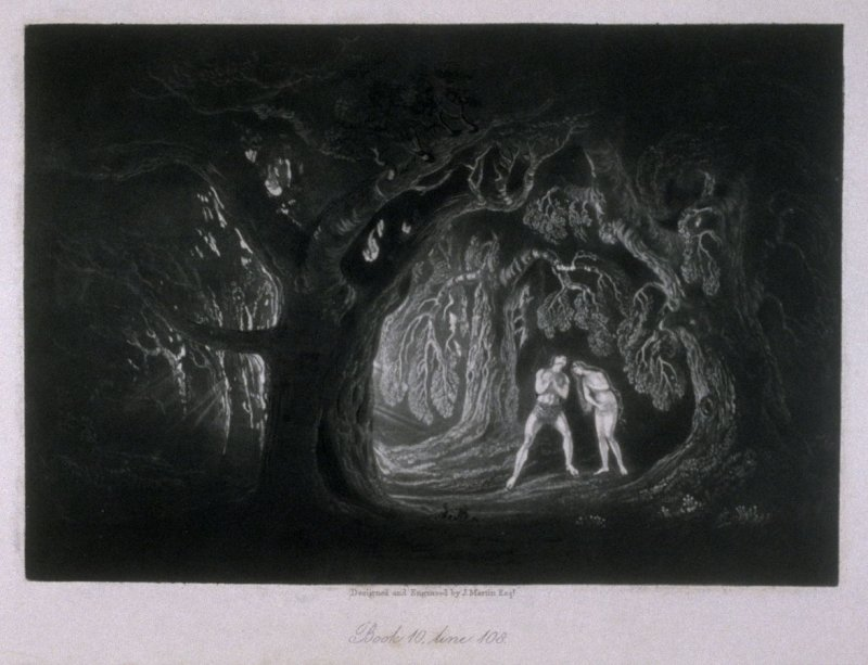 [Adam Hearing the Voice of the Almighty], Book 10, line 108, bound at p. 285 in the book, The Paradise Lost of Milton (London: Charles Tilt, 1838)