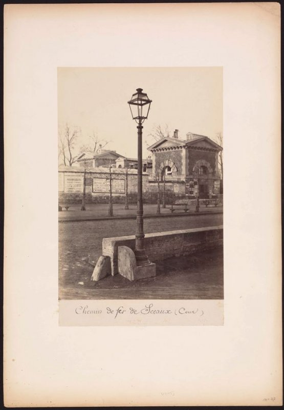 Street Lamp, Courtyard of the Railway Station at Sceaux