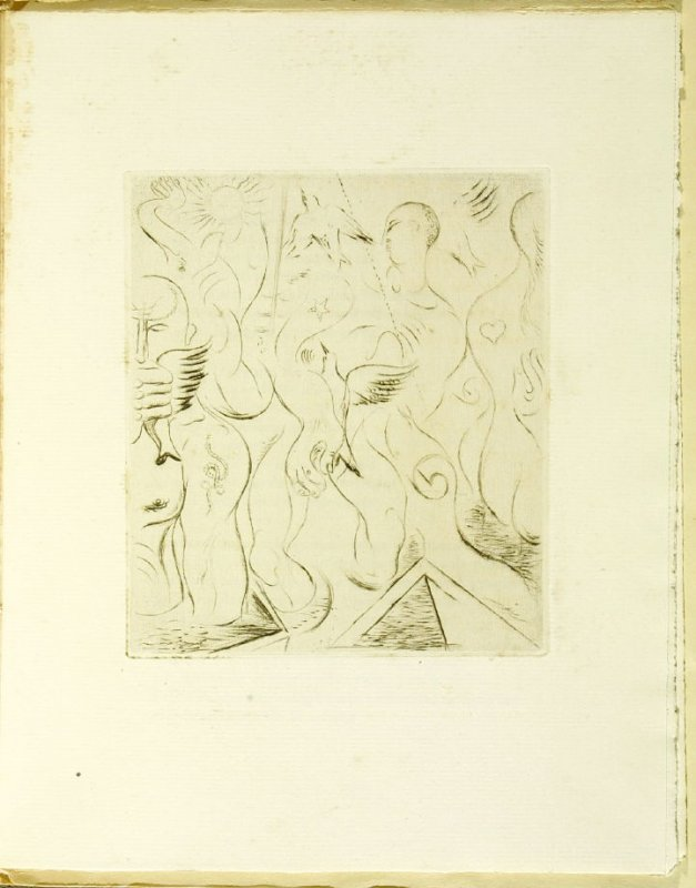 Untitled, illustration in the book Soleils bas (Setting Suns) by Georges Limbour (Paris: Éditions de la Galerie Simon [Kahnweiler], 1924)