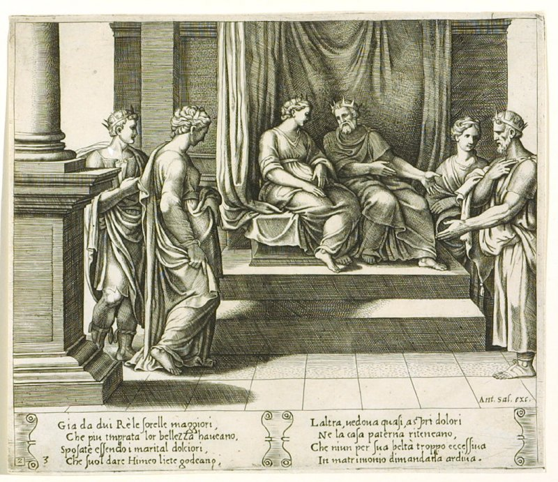 Gia da dui Ré le forelle maggiori, . . . (The Two Sisters of Psyche are Married to Kings) , pl. 3, from the Series: The History of Psyche