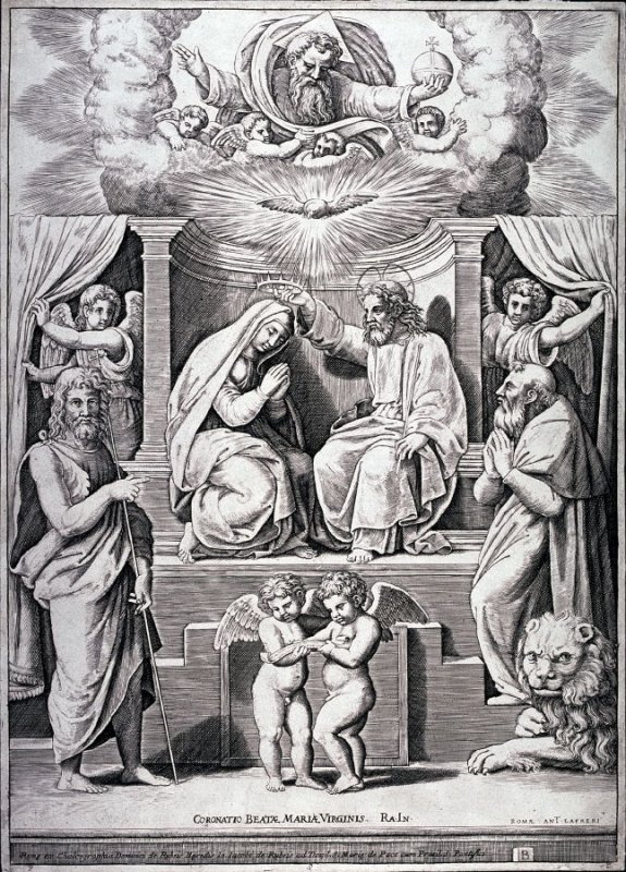 The Coronation of the Virgin, after Raphael