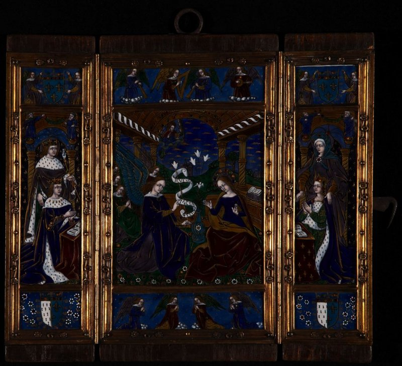 Triptych with the Annunciation and portraits of Louis XII and Anne de Bretagne