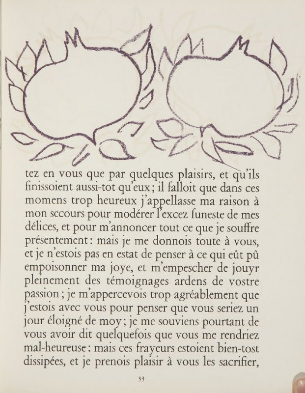 Untitled, ornament, pg. 33, in the book Lettres (Lettres Portugaises) by Marianna Alcaforado (Paris: Tériade Éditeur, 1946)