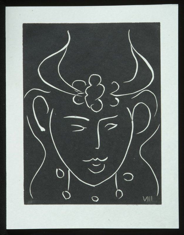 Untitled, VIII, (from the suite) in the book Pasiphaé: Chant de Minos (Les Crétois) by H. de Montherlant (Paris: Martin Fabiani, 1944).