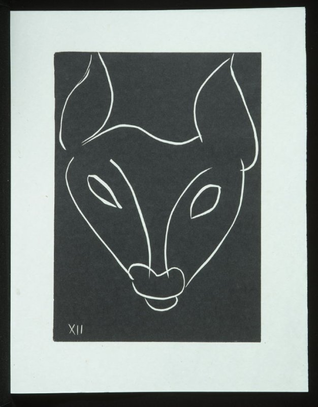 Untitled, XII, (from the suite) in the book Pasiphaé: Chant de Minos (Les Crétois) by H. de Montherlant (Paris: Martin Fabiani, 1944).