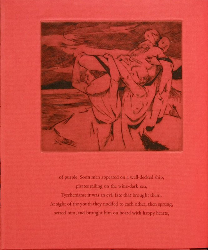 Plate 2 in the book Hymn to Dionysos, Etchings and Translations by Sean McElroy (Ann Arbor: Passim Editions, 2003)