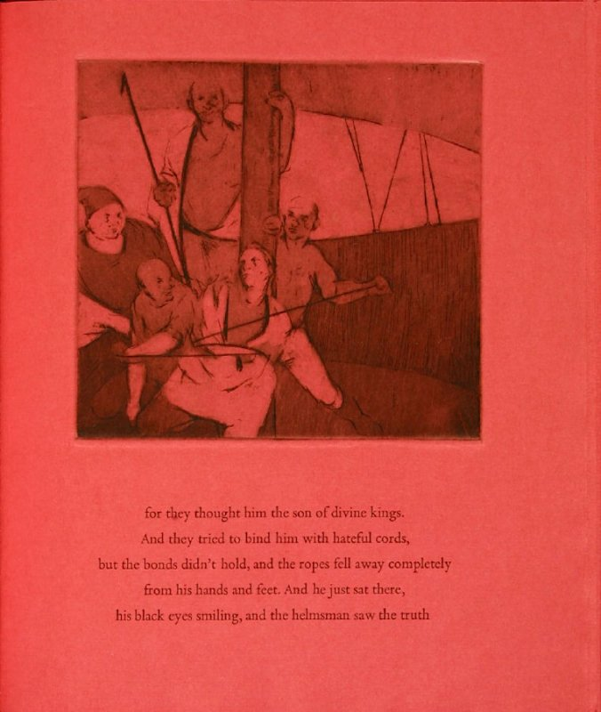 Plate 3 in the book Hymn to Dionysos, Etchings and Translations by Sean McElroy (Ann Arbor: Passim Editions, 2003)