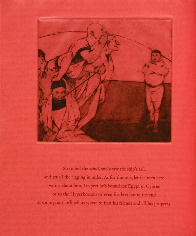 Plate 4 in the book Hymn to Dionysos, Etchings and Translations by Sean McElroy (Ann Arbor: Passim Editions, 2003)
