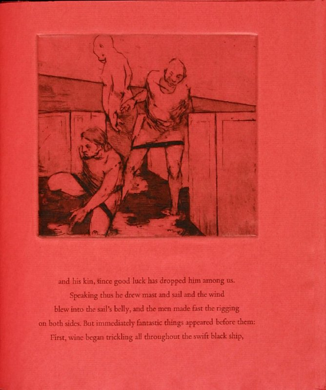 Plate 5 in the book Hymn to Dionysos, Etchings and Translations by Sean McElroy (Ann Arbor: Passim Editions, 2003)