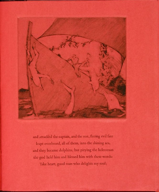 Plate 7 in the book Hymn to Dionysos, Etchings and Translations by Sean McElroy (Ann Arbor: Passim Editions, 2003)