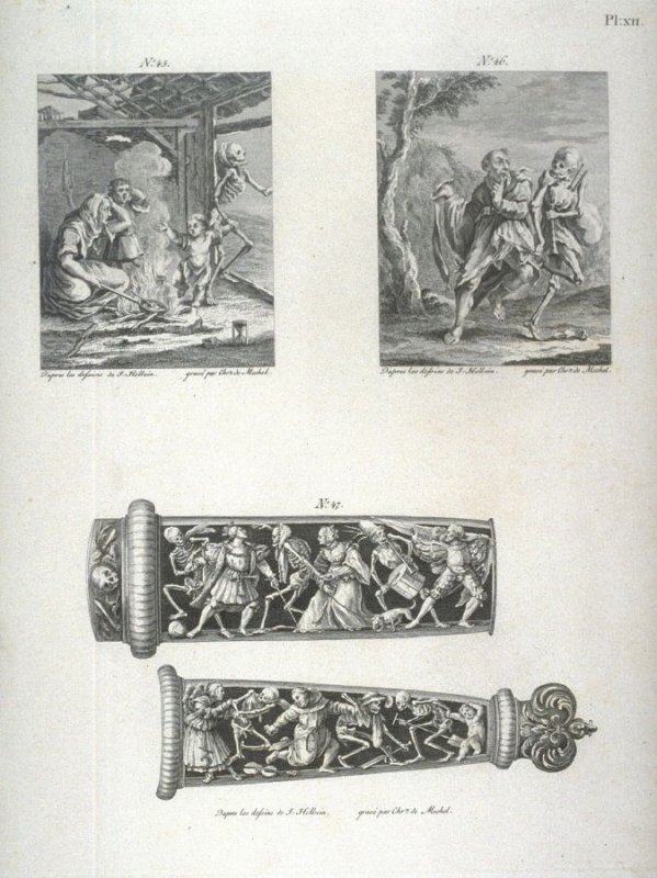 Plate XII, no.45-47 from The Dance Of Death