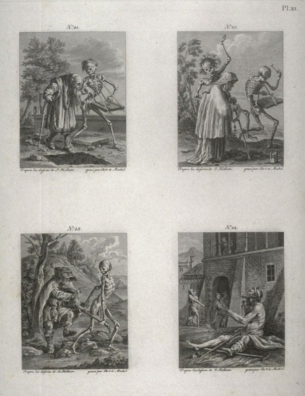 Plate XI, no.41-44 from The Dance Of Death