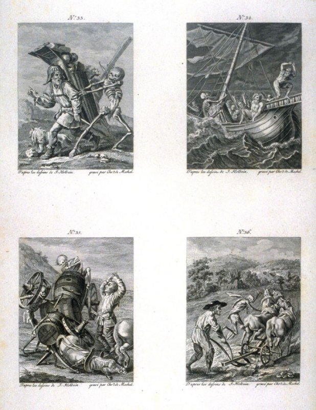 Plate IX, no.33-36 from The Dance Of Death
