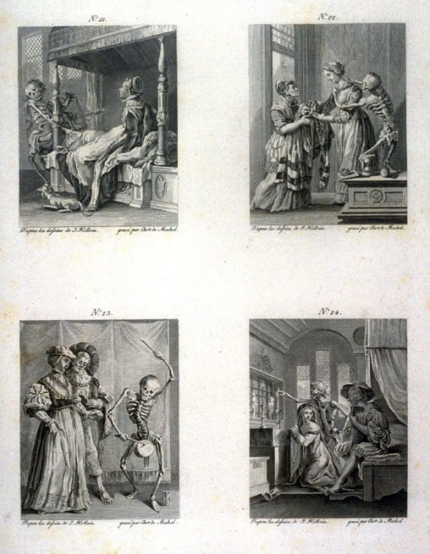 Plate VI, no.21-24 from The Dance Of Death