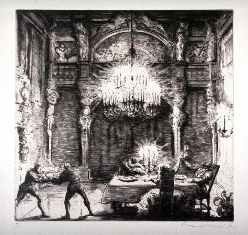 """Etching from Mozart's Opera """"Don Giovanni"""""""