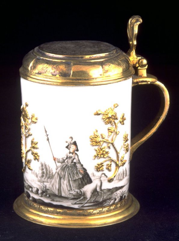 Tankard with gilt-silver mounts