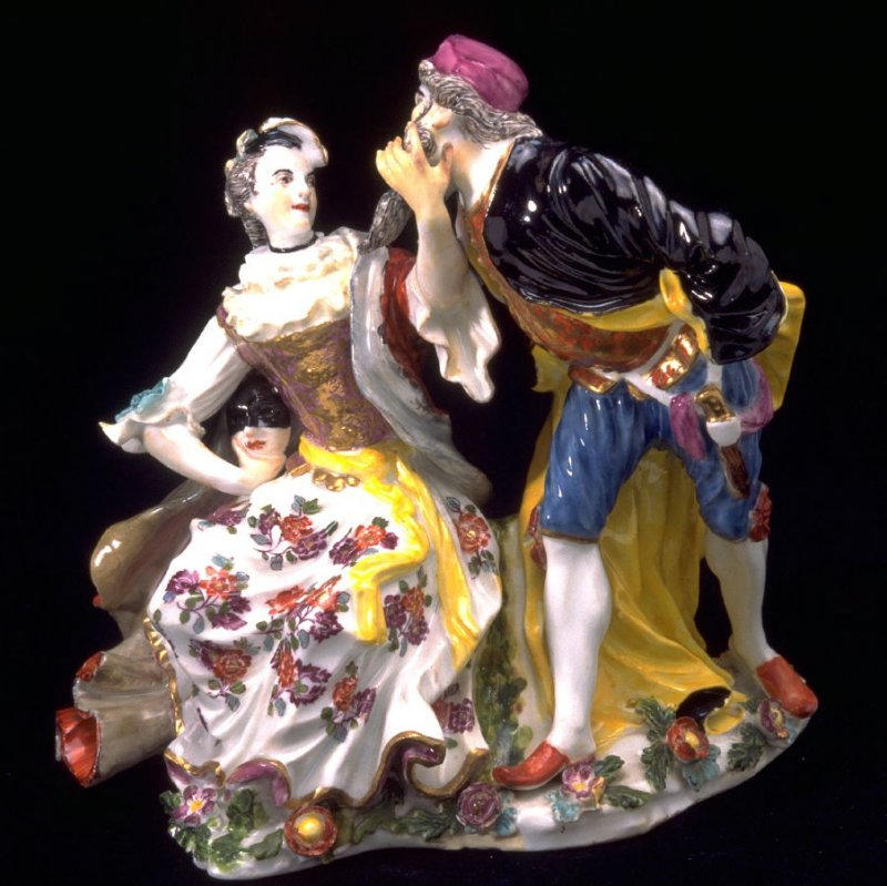 Columbine and Pantalone, two commedia figures