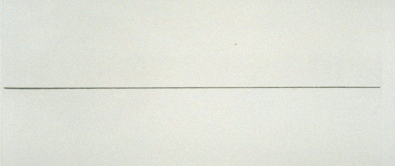 Untitled (horizontal line), pl. 8 from the book A Scratch on the Negative (Oakland: Crown Point Press, 1974)