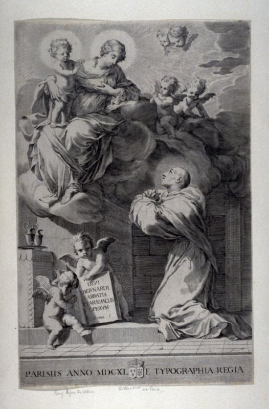 The Virgin holding the Child appearing to St. Bernard who is kneeling
