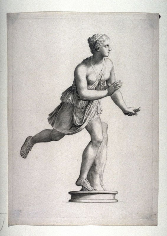 Female standing on one foot classic sculpture