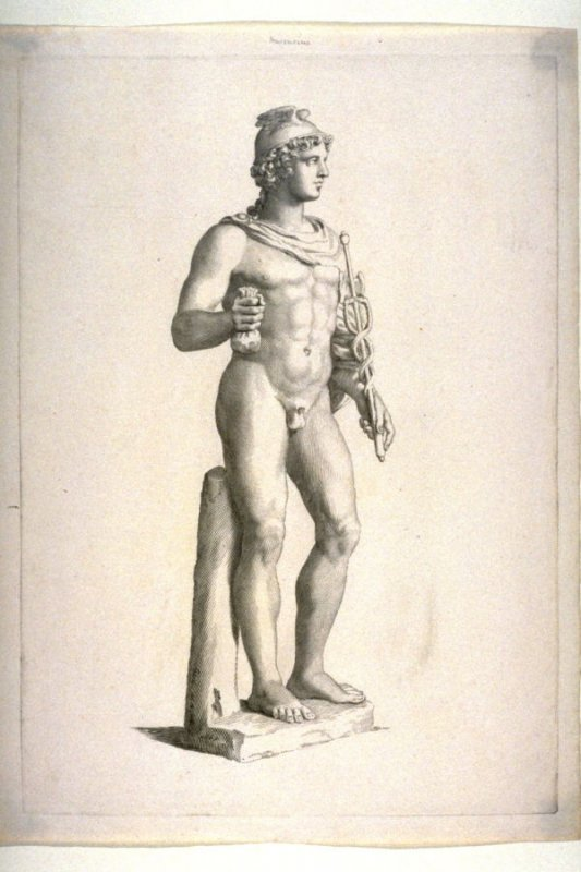 Male figure standing Mercurius classic sculpture