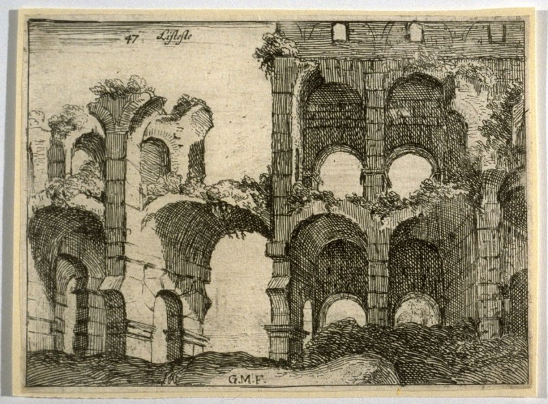 Listesse (The Same[i.e.Amphitheater of the Coliseum]), pl. 47 from the series Alcune vedute et prospettive di luoghi dishabitati di Roma (Some Views and Perspectives of the Uninhabited Places of Rome)