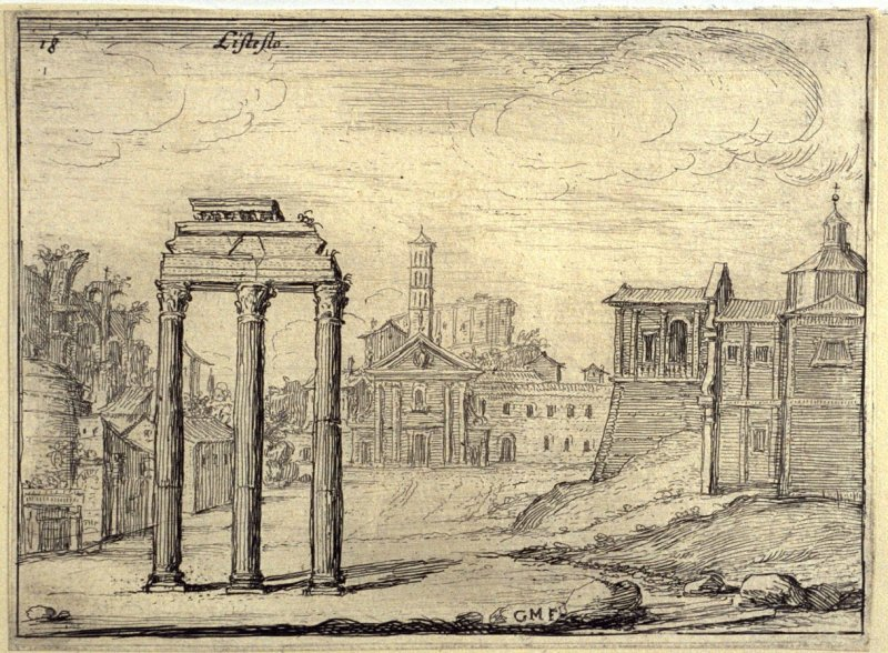 Listesso (The Same [i.e. Camp Vaccino]), pl. 18 from the series Alcune vedute et prospettive di luoghi dishabitati di Roma (Some Views and Perspectives of the Uninhabited Places of Rome)