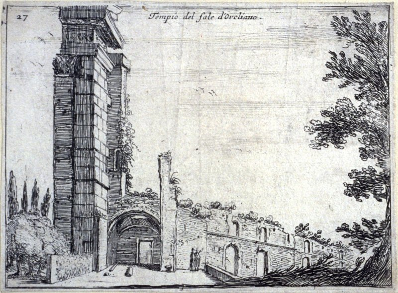 Temple del sole d'Oreliano (Aurelian Temple of the Sun), pl. 27 from the series Alcune vedute et prospettive di luoghi dishabitati di Roma (Some Views and Perspectives of the Uninhabited Places of Rome)