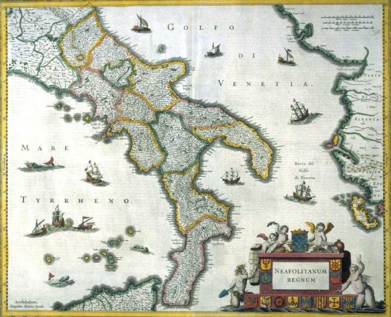 Map of the Kingdom of Naples