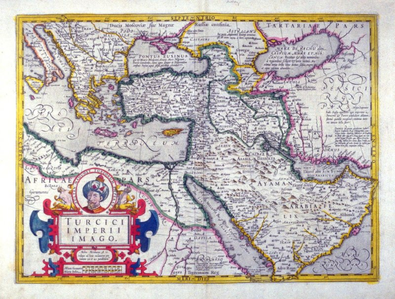 Map of the Ottoman Empire, 1633