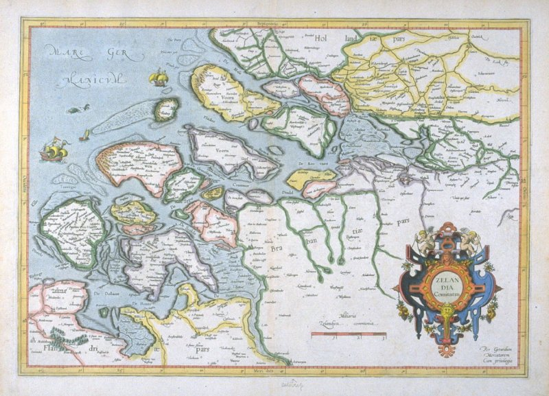 Map of the Province of Zeeland, Holland