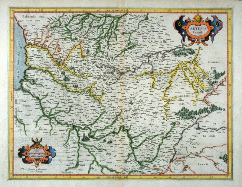 Map of Artesia (northern France)