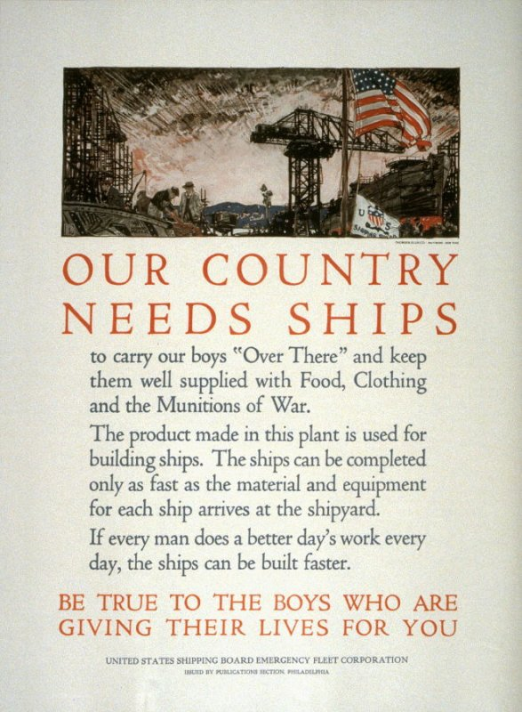 Our Country Needs Ships - World War I Poster
